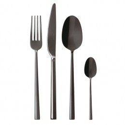 Sambonet Rock Pvd 2Black Flatware Set 24 pcs 52762K81
