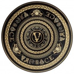 Versace Rosenthal Virtus Gala Black Service Plate 33 cm