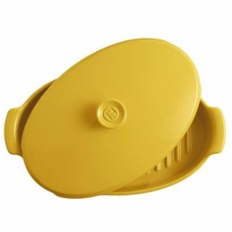 copy of Emile Henry Oval Covered Baker / Fish Steamer Yellow