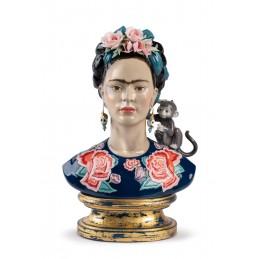 Lladrò Frida Kahlo Figurine Blue Limited Edition Ref. 01002026