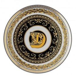 Versace Rosenthal Virtus Alphabet D  Plate 17 cm