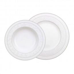 Villeroy & Boch Gray Pearl Dinner Set 12 Pcs (Dinner Plate, Soup Plate)