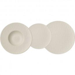 Villeroy & Boch Manufacture Rock Blanc Dinner Set 18 Pcs