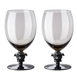 Versace Rosenthal Medusa Lumiere Haze 2nd Edition Set of Two Water Glass