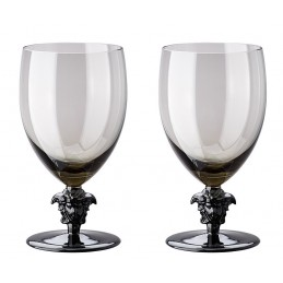Versace Rosenthal Medusa Lumiere Haze 2nd Edition Set of Two Red Wine Glass