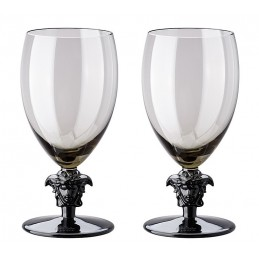 Versace Rosenthal Medusa Lumiere Haze 2nd Edition Set of Two White Wine Glass