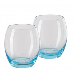 copy of Versace Rosenthal Medusa Lumiere Teal 2nd Edition Set of Two Whisky Gobelet