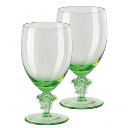 Versace Rosenthal Medusa Lumiere Mint 2nd Edition Set of Two Water Glass