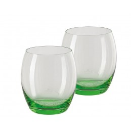 Versace Rosenthal Medusa Lumiere Mint 2nd Edition Set of Two Whisky Gobelet