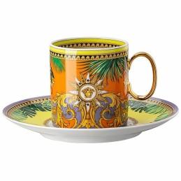Versace Rosenthal Jungle Animalier Coffee Cup & Saucer 4 Tall