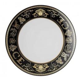 Versace Rosenthal Virtus Gala Black Salad Plate 21 cm