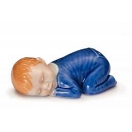 Royal Copenhagen Figurine Boy Sleeping Blue Ref. 1249026