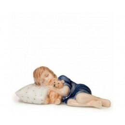 Royal Copenhagen Figurine Elsa with Cuscion Mini and Teddy Ref.1021675