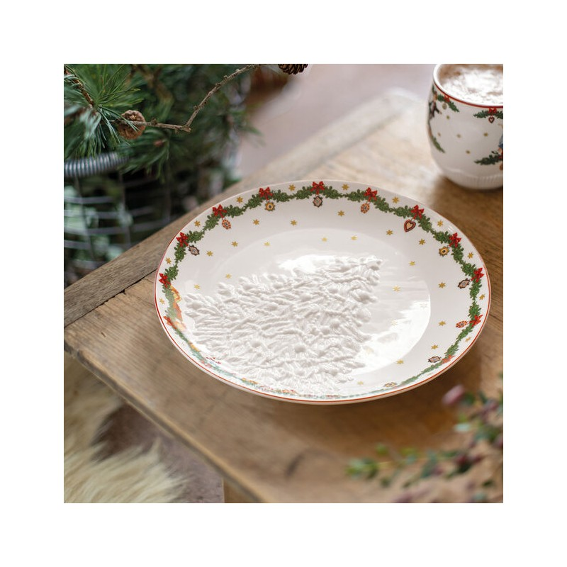 Villeroy & Boch Toy's Fantasy Bowl with relief Christmas Tree