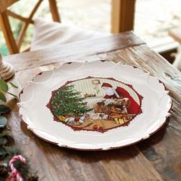 Villeroy & Boch Toy's Fantasy Piatto Pasticceria Grande Babbo Natale porta i Regali