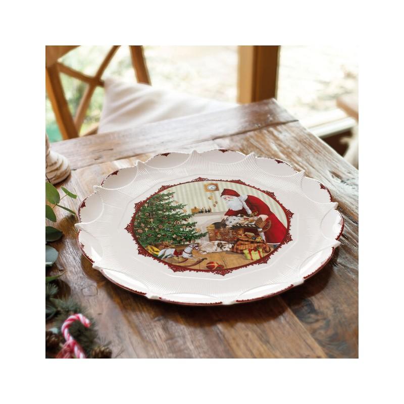 Villeroy & Boch Toy's Fantasy Pastry Plate 41 cm Santa brings gifts
