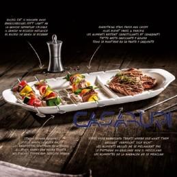 Villeroy & Boch BBQ Passion Piatto a servire per spiedini XL